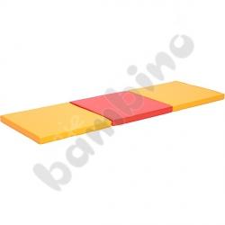 Materac 3-częściowy pomarańczowo-czerwony - kształtka rehabilitacyjna