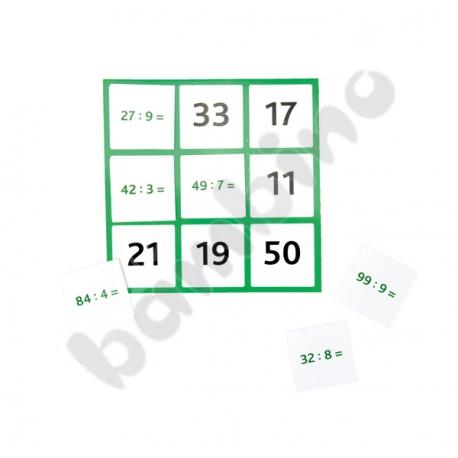 Bingo mnożenie i dzielenie w zakresie 100