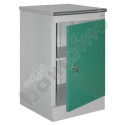 Szafka medyczna z 1 półką drzwi zielone