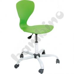 Krzesło Flexi obrotowe na kółkach z reg. wys. zielone
