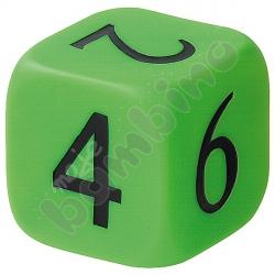 Duża kostka z liczbami