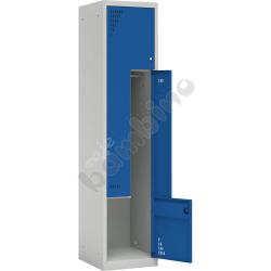 Szafa ubraniowa L z 2 schowkami drzwi niebieskie