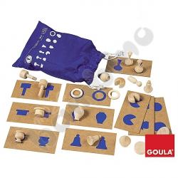 Tabliczki i kształty niebieskie
