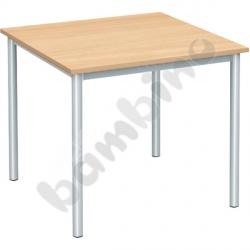 Stół świetlicowy Mila 80 x 80 cm rozm. 6 srebrny