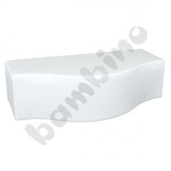 Pufa fala biała, wys. 34 cm