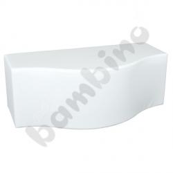 Pufa fala biała, wys. 44 cm