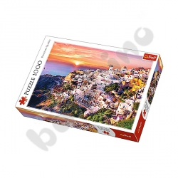 Puzzle 1000 Zachód słońca nad Santorini