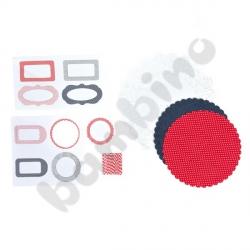 Ozdoby do słoików- granatowo-czerwone kolory