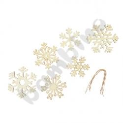 Drewniane zawieszki - płatki śniegu