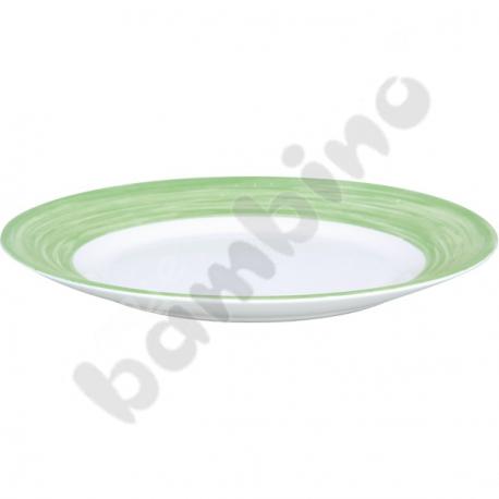 Talerz płaski Brush - zielony