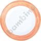 Talerz płaski Brush - pomarańczowy