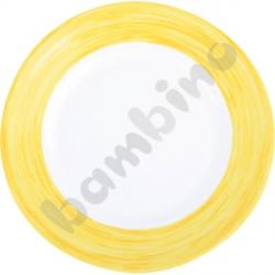 Talerzyk deserowy Brush - żółty