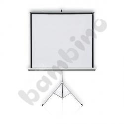 Ekran projekcyjny na statywie 150 x 150 cm