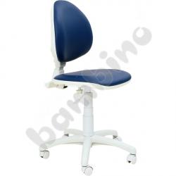 Krzesło do gabinetu lekarskiego - niebieskie
