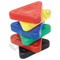 Kredki woskowe - trójkąty 6 kolorów