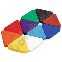 Kredki woskowe - trójkąty 10 kolorów