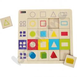 Logiczne puzzle Geometryczne kształty