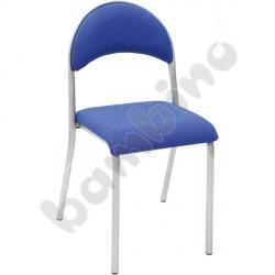 Krzesło P tapicerowane srebrne