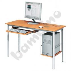 Stolik komputerowy LUX z półką na komputer i szufladą na klawiaturę