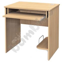 Stolik komputerowy STANDARD z półką na komputer i szufladą na klawiaturę