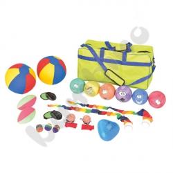 Duży zestaw piłek z torbą