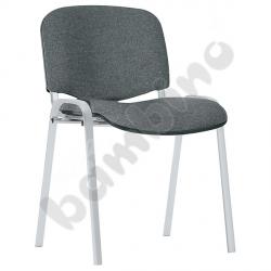 Krzesło konferencyjne ISO Alu popielato - czarne